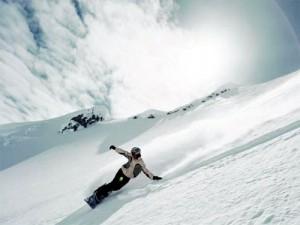 Снег в горах США и Канады