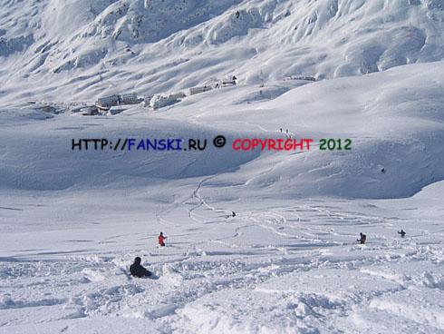 Горнолыжные курорты Австрии:  Sant Anton СтАнтон СтКристоф фрирайд
