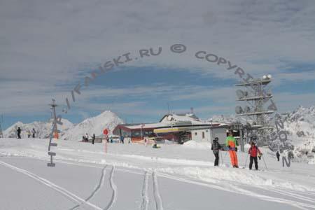 Австрия горнолыжный курорт Венет, ресторан-панорама
