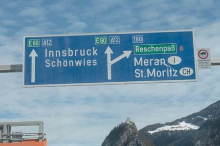 дорога из Мюнхена в Австрию