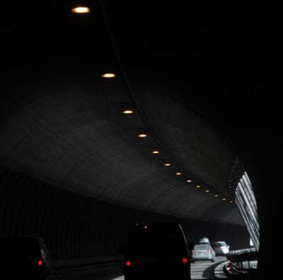 Тоннель по дороге из Мюнхена в Австрию