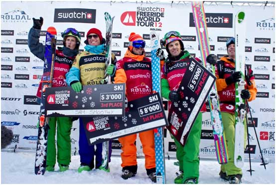 Рёлдал 2012, Подиум, лыжи у мужчин / Roldal, men ski podium