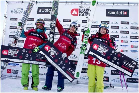 Рёлдал 2012, Подиум, лыжи у женщин/ Roldal, podium ski woman