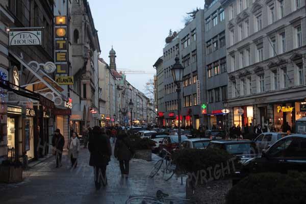 Оживленные улочки Мюнхена