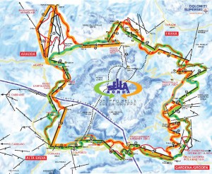 Валь Гардена (Селла Ронда) - схема трасс