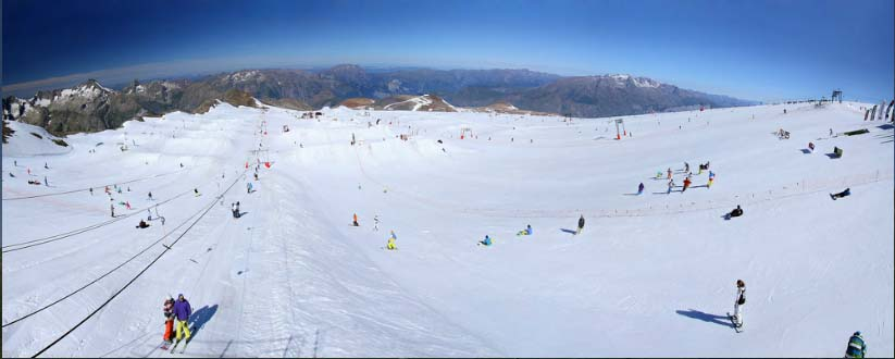 на леднике в Ле дез альп