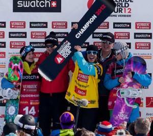 Подиум FWT 2012, сноуборд, женищины - Photo Dom Daher