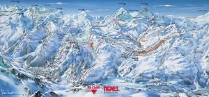 Тинь / Валь д Изер (Tignes / Val d Isere) - Схема трасс