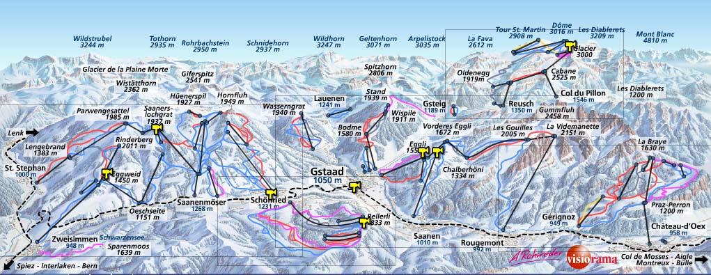 Гштаад / Gstaad - Схема трасс