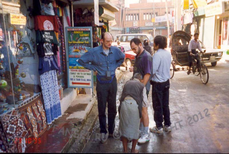 В квартале Тамель, Катманду, Непал