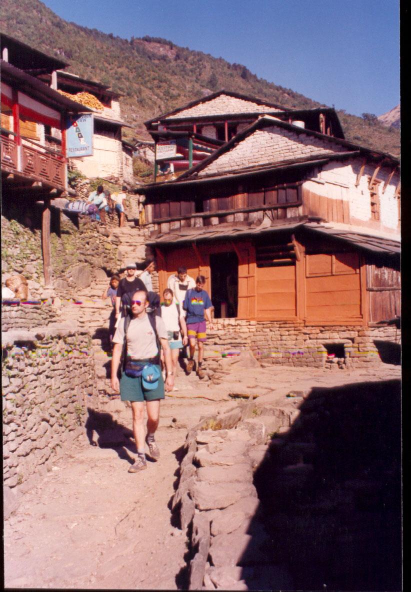 Деревня в горах Непала
