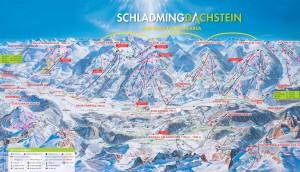Шладминг - Дахштайн Тауэрн + ледник Дахштайн - Схема трасс