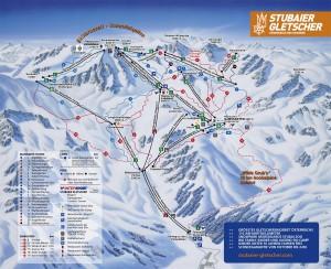 Схема трасс ледника Штубай
