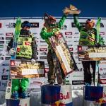 Скорость и уверенный райдинг показали мужчины горнолыжники
