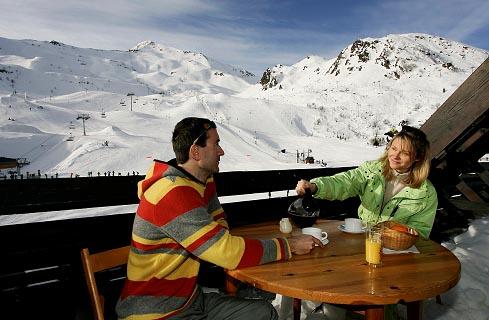 В ресторане на горнолыжной станции Пио. Франция, Пиренеи