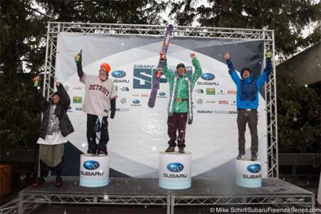 Победители  Subaru Freeride FWQ у мужчин-лыжников