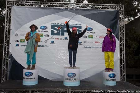 Победители  Subaru Freeride FWQ у женщин-лыжниц