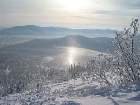 Шерегеш, вид с горы Зеленая