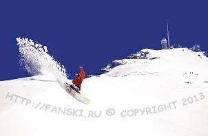 Спуск с горнолыжной станции Пик - дю – Миди, Пиренеи, Франция