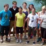 Сбор австрийской женской сборной по могулу на озере Факер-Зее