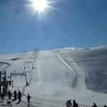 Катание на лыжах и сноуборде в августе