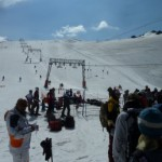 Летнее катание в Ле дез Альп