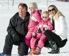 Принц Фризо с женой и дочерьми