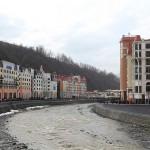 Гостиницы и рестораны на курорте Роза Хутор в Сочи, Россия.