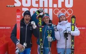 Победители в скоростном спуске на Олимпиаде в Сочи.