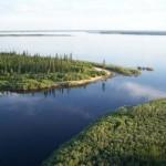 Река Лена недалеко от поселка Сангар, Республика Саха, Якутия.