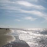 Моской пляж в Лиепая, Латвия.