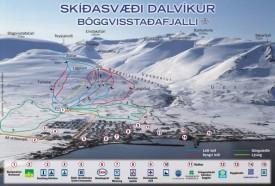 Карта трасс курорта Далвик / Dalvik, Исландия.