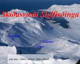 Схема подъемников курорта Сиглуфьёрдер / Siglufjordur, Исландия.