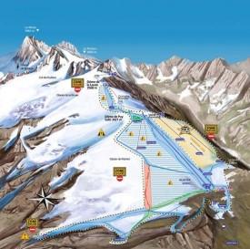 Ле дез Альп - летняя схема трасс.
