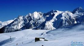 Фото: горнолыжного курорта Люшон - Супербаньер во Французских Пиренеях.