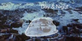Область ночного катания в Лез Арк.