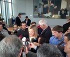 Марлиз Шильд заявляет прессе о своем уходе.