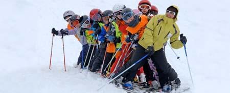 Как обучать детей горным лыжам.