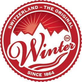 Логотип 150 лет зимнему туризму в Швейцарии.