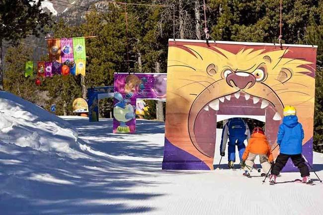 Детские развлечения на горнолыжных курортах Андорры.