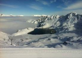 Озеро Vaux, Вербье, Швейцария.