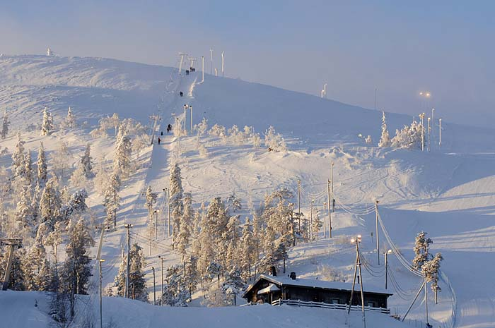 Горнолыжный курорт Пюха, Финляндия.