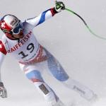 Швейцарец Патрик Кюнг возглавляет подиум в скоростном спуске в Вейл 2015