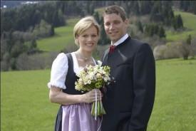 Марлиз Шилд и Бенджамин Райх на свадебной церемонии 25.04.2015