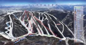Схема трасс горнолыжного курорта Ванлонг / Wanlong, Китай.