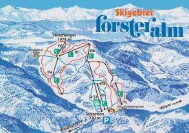 Схема трасс горнолыжного курорта Форстеральм
