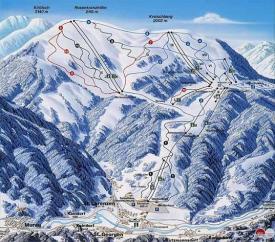 Схема трасс горнолыжного курорта Крайшберг