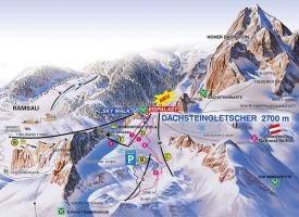 Схема трасс горнолыжного курорта Дахштайн-Ледник