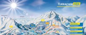 Схема трасс горнолыжного курорта Туррахер-Хох