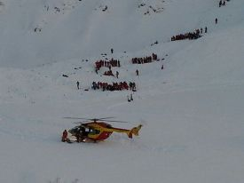 Спасательная опрация в Ле дез Альп